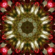 Red Gold Kaleidoscope 1 Art Print