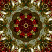 Red Gold Kaleidoscope 2 Art Print