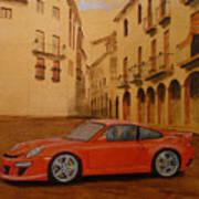 Red Gt3 Porsche Art Print