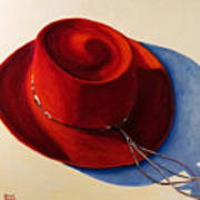 Red Hat Art Print