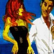Red Head Looking For Mr Right  Art Print