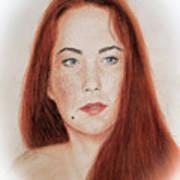 Red Headed Beauty Art Print