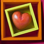 Red Heart In Box Art Print