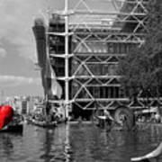 Red Heart In Paris Art Print