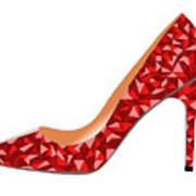 Red High Heel Shoe Art Print