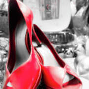 Red High Heels Art Print