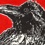 Red Hot Raven Art Print