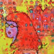 Red Hot Summer Girl Art Print