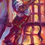 Red Hot Trumpet Art Print
