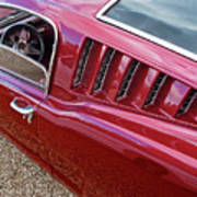 Red Hot Vents - Classic Fastback Mustang Art Print