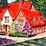 Red House In Clayton Art Print