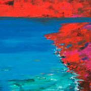 Red Island Art Print