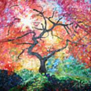 Red Japanese Maple Art Print