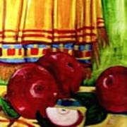 Red Juicy Apples Art Print