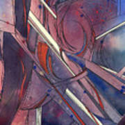 Red Kayaks On A Trailer Art Print