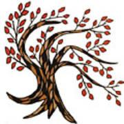 Red-leafed Tree Art Print