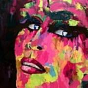 Red Light Offer, Palette Knife Painting Art Print