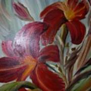 Red Lilies Art Print