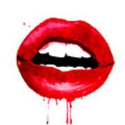 Red Lips 3  Art Print