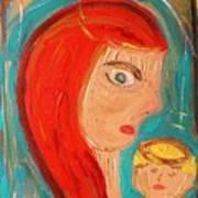Red Madonna Art Print