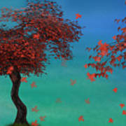 Red Maples Art Print