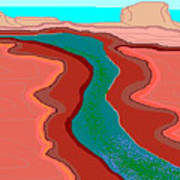 Red Mesa Art Print