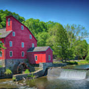 Red Mill Of Clinton New Jersey Art Print