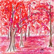 Red Mood Art Print