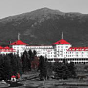 Red Mount Washington Resort Art Print