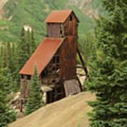 Red Mountain Mine. Art Print