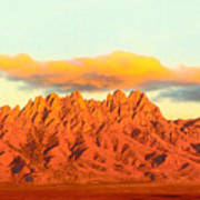 Red Mountain Sunset Organs Art Print