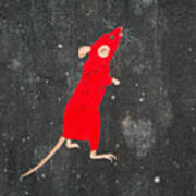 Red Mouse Art Print