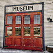 Red Museum Door Art Print