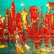Red Nyc Art Print