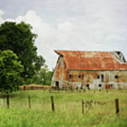 Red Oak Barn Art Print