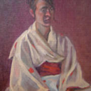 Red Obi Art Print