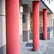 Red Pillars Art Print