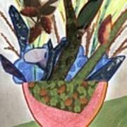 Red Planter Art Print
