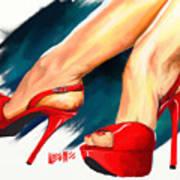 Red Platforms Art Print
