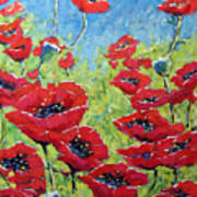 Red Poppies By Prankearts Art Print