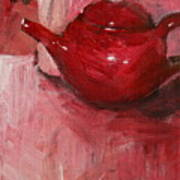 Red Pot Art Print