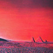 Red Pyramid W Art Print