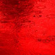 Red Rain Droplets Art Print
