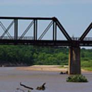 Red River Railroad Crossing Art Print