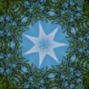 Red River Star Kaleidoscope 1 Art Print