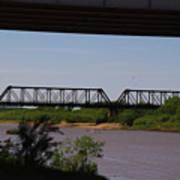 Red River Truss Bridge Art Print