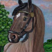 Red Roan Horse Art Print