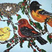 Red Robins Art Print