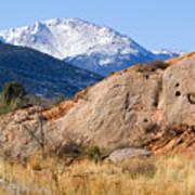 Red Rock And Pikes Peak Art Print