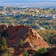 Red Rock Canyon Rock Quarry And Colorado Springs Art Print